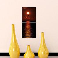 Sunset Like Modern Wall Art Painting -2 Frames (76x25 Cm) 2Frames0006