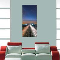 Highway Like Modern Wall Art Painting -2 Frames (76x25 Cm) 2Frames0009