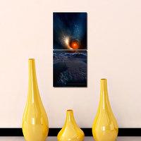Ring Of Fire Like Modern Wall Art Painting -2 Frames (76x25 Cm) 2Frames0010