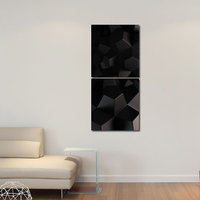 Star Like Modern Wall Art Painting -2 Frames (76x25 Cm) 2Frames0011