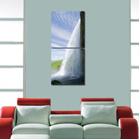 Waterfall Like Modern Wall Art Painting -2 Frames (76x25 Cm) 2Frames0014