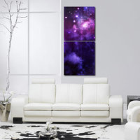 Star In The Sky Like Modern Wall Art Painting -2 Frames (76x25 Cm) 2Frames0015