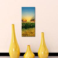 Sunrise At Flower Like Modern Wall Art Painting -2 Frames (76x25 Cm) 2Frames0018