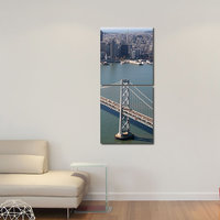 Bridge Modern Wall Art Painting -2 Frames (76x25 Cm) 2Frames0024