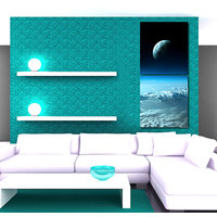 Moon In The Sky Modern Wall Art Painting -2 Frames (76x25 Cm) 2Frames0026