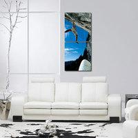 Man Lift At Mount Modern Wall Art Painting -2 Frames (76x25 Cm) 2Frames0028