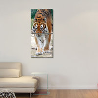 Tiger Modern Wall Art Painting -2 Frames (76x25 Cm) 2Frames0029