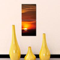 Sunset Modern Wall Art Painting -2 Frames (76x25 Cm) 2Frames0030