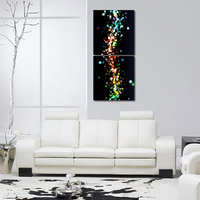 Drops At Glass Wall Art Painting -2 Frames (76x25 Cm) 2Frames0033