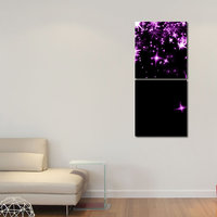 Star In The Sky Wall Art Painting -2 Frames (76x25 Cm) 2Frames0037