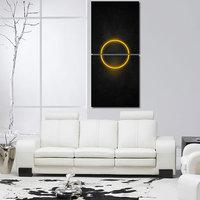 Circle Wall Art Painting -2 Frames (76x25 Cm) 2Frames0039