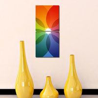 Multiple Circles Wall Art Painting -2 Frames (76x25 Cm) 2Frames0041