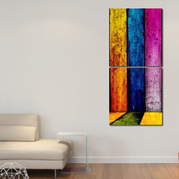 Different Colors Walls Wall Art Painting -2 Frames (76x25 Cm) 2Frames0044