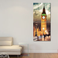 Towers Wall Art Painting -2 Frames (76x25 Cm) 2Frames0046