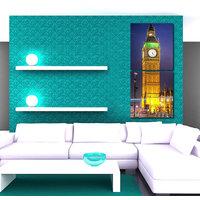 Towers Clock Wall Art Painting -2 Frames (76x25 Cm) 2Frames0048