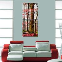 Tree Leaf Wall Art Painting -2 Frames (76x25 Cm) 2Frames0049
