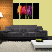 Multiple Color Flower Like Modern Wall Art Painting   - 4 Frames (127x76 Cm) 4Frames0025