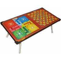 Multi-purpose Foldable Ludo + Snakes & Ladders Printed Table