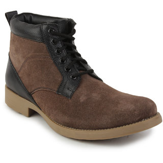 Metrogue Men's  Mid Length Suede Leather  Casual Boots - 6886732