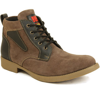 Metrogue Men's  Mid Length Suede Leather  Casual Boots - 6886492