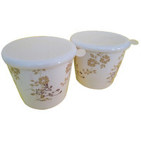 Czar Dine Smart Golden Design 2 Pcs. Storage Jar With Cover