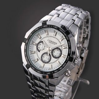 CURREN 8084 Fashion Military Men Sports Wrist Watch Full Steel Luxury Watches