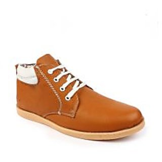 Banjoy Tan Synthetic Leather Casual Shoes PITNS1110