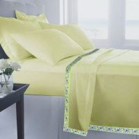 Set Of 2 100% Cotton Lemon Color Single Bed Sheet Cum Top Sheet