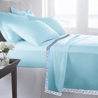 Set Of 2 100% Cotton Blue Color Single Bed Sheet Cum Top Sheet