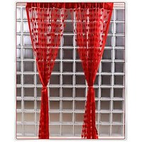 Set Of 2 Red Beautiful Summer Heart Curtains