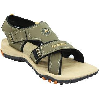 ABS Men's Camel & Beige 3 Strap Sandals