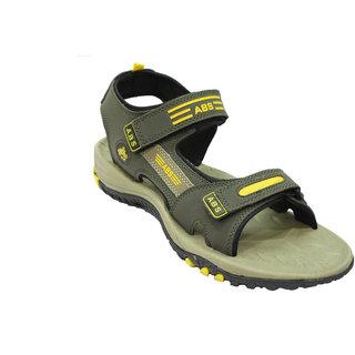 ABS Men's Mahendi & Yellow Classy Sandals