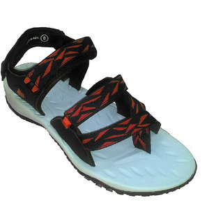 ABS Men's Grey & Red Stylish Sandals