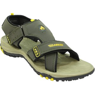 ABS Men's Mahendi & Yellow 3 Strap Sandals