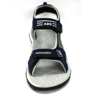 ABS Men's Grey & Blue Classy Sandals