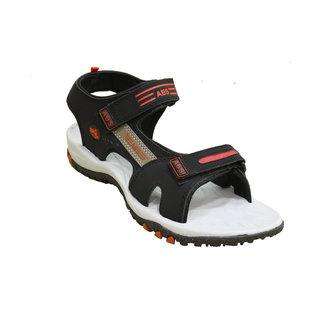 ABS Men's Grey & Red Classy Sandals
