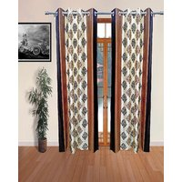 Sajawatt Jaisalmeri Coffee Polyester Door Curtain (7ft)