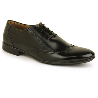 Metrogue Men's Black Brogue Shoes