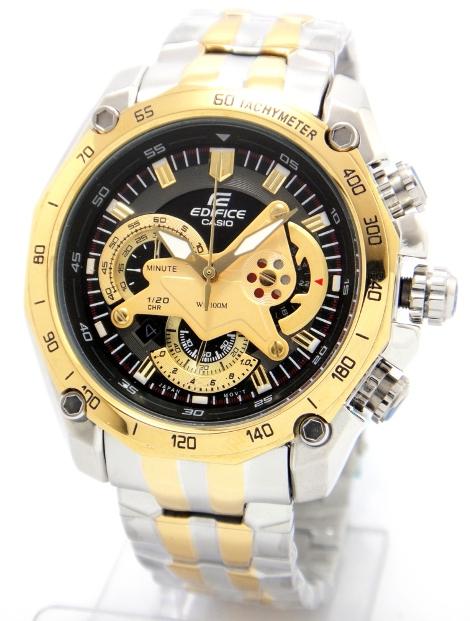 Casio Watch Edifice EF 550D Gold Two Tone Chronograph(100% GENUINE)1 ... 6376075120