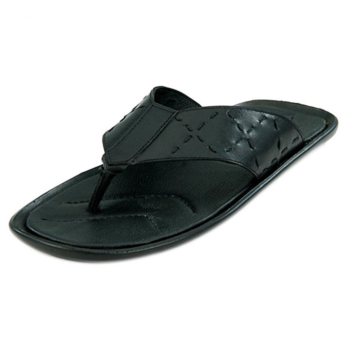 Franco Leone 9414 Black Men's Sandals