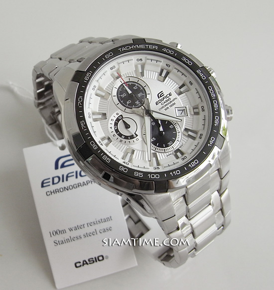 Casio EdificeEF- 539D- 7AV- WHITE DIAL