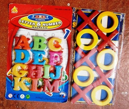 Alphabets Magnet Stickers With Criss Cross Game In Vibrant Color