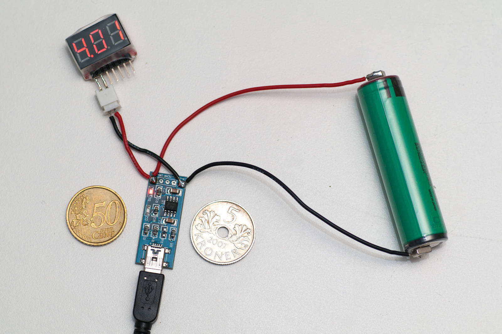 TP4056 LIPO LI-ION Lithium Battery Charging Board Mini USB