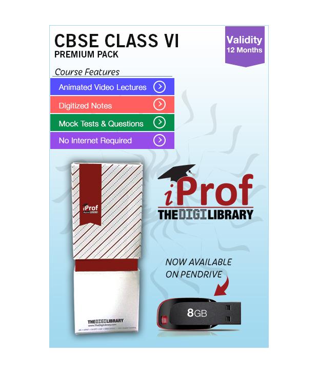 IProf's  CBSE Class 6 Maestro Series Premium Pack On Pen-Drive [CLONE]