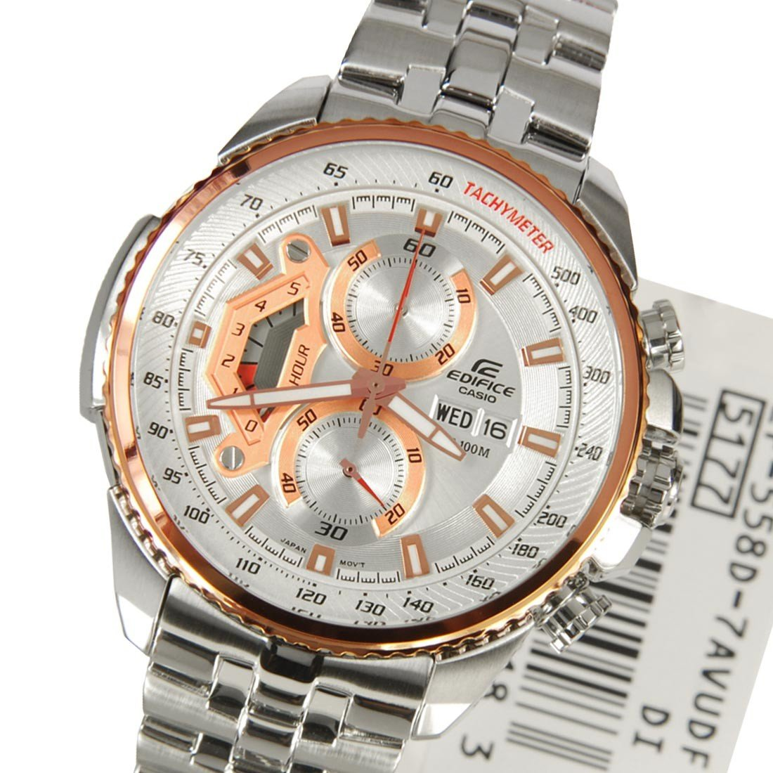 Imported Casio Edifice Ef 558d 7avdf Chronograph Mens Day Date Wrist 543d 1av Silver Watch Gift