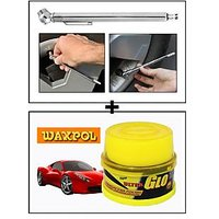 Vheelocity Car Auto Tire Tyre Pressure Gauge For All Cars And Bikes + Waxpol Ultra Glo Polish With Uv Guard 100Gms