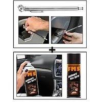 Vheelocity Car Auto Tire Tyre Pressure Gauge For All Cars & Bikes + Fms Car Dashboard Wax Spray 450Ml
