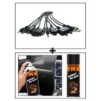 Vheelocity Titoni 11 In 1 Universal Car Mobile Charger + Fms Car Dashboard Wax Spray 450Ml