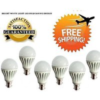 5 Watt LED BULB 5W BRIGHT WHITE LIGHT Set OF 6 Pcs