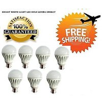 5 Watt LED BULB 5W BRIGHT WHITE LIGHT Set OF 7 Pcs